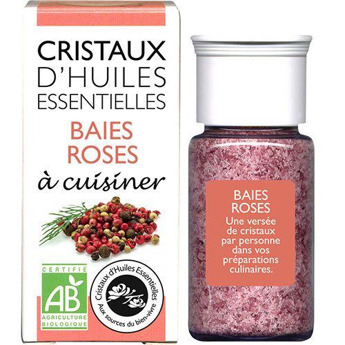 Cristaux Huiles Essentielles Baies Roses 18G