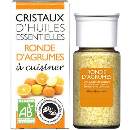 Cristaux Huiles Essentielles Ronde D\'Agrumes 18G