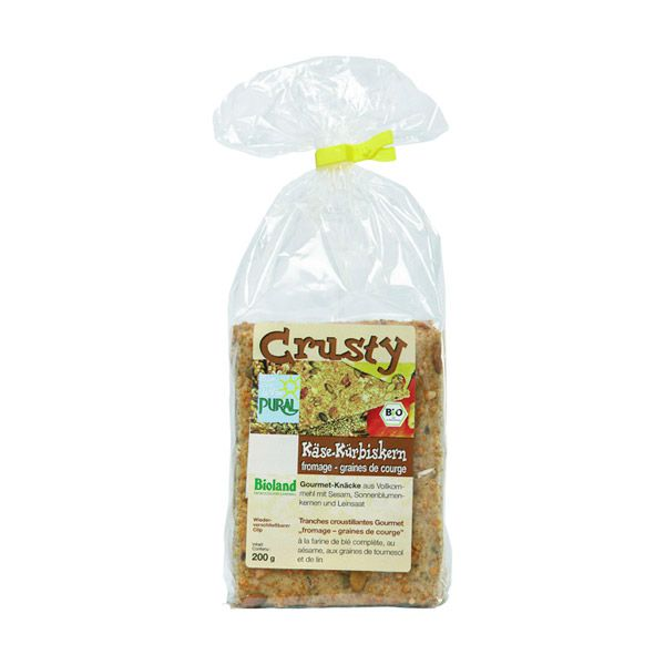 Crusty fromage graines de courge 200g Pural
