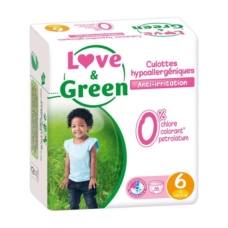 Culottes d\'Apprentissage Hypoallergéniques Love & Green