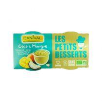 Dessert coco mangue 2x110g Danival