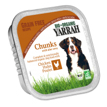 Dog Food Chunks Chicken Aloe Vera Gluten Free Organic 150G Yarrah