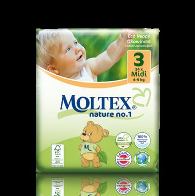 Ecological Nappies Mini 3-6kg 42 pieces Moltex