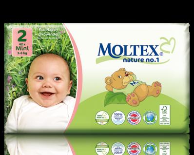 Ecological Nappies Newborn 2-4kg 23 pieces Moltex
