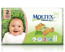Ecological Nappies Newborn 2-4kg 23 pieces Moltex