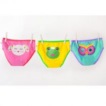 Ensemble de 3 Slips Fille 2-3 ans Zoocchini