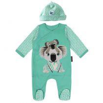 Ensemble Pyjama Bonnet Koala Coton Bio Coq en Pâte