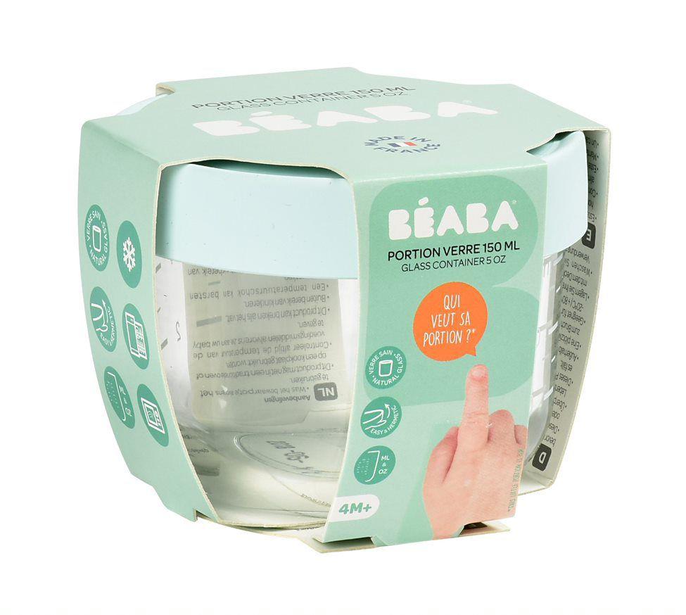 Glass Conservation Jar 150ml Pink Beaba