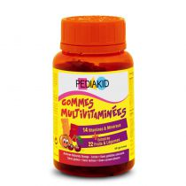 Gommes multivitaminées 60 oursons Pediakid