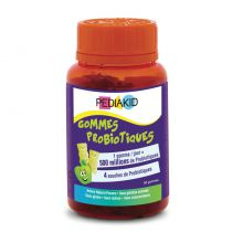 Gommes Probiotiques pomme 60 oursons Pediakid