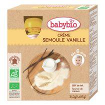 Gourde crème semoule vanille 4x85g Babybio