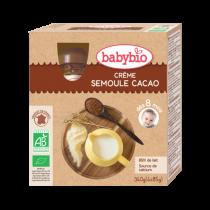 Gourdes Crème Semoule Cacao 4x90g 8M Babybio