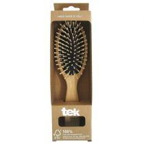 Grote Ovale Haarborstel Essenhout Tek