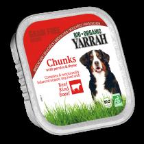 Hondenvoer Brokjes In Saus Rund Bio Glutenvrij 150G Yarrah