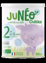 Juneo Chèvre Lait de Suite 2ème âge 6-12 Mois 900G
