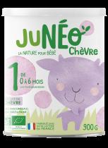 Juneo Chèvre Lait Nourrissons 1er âge 0-6 Mois 900G