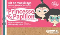Kit de Maquillage Princesse & Papillon 3 couleurs Namaki