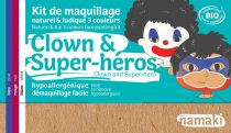 Kit maquillage Clown & Super Héros 3 couleurs Namaki