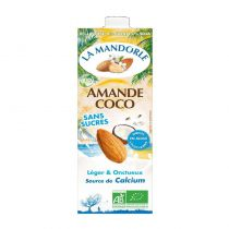 Lait d\'amandes Coco sans sucre 1L La Mandorle