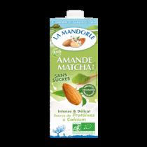 Lait d\'amandes Matcha sans sucre 1L La Mandorle