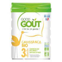 Lait de Croissance Bio 800g 10 à 36 M Good Gout