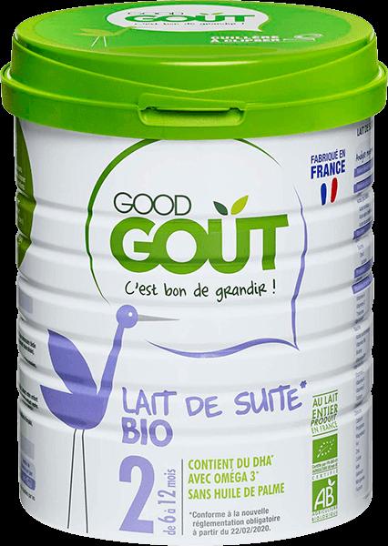 Lait de Suite Bio 2ème Age 800g 6-12M Good Gout