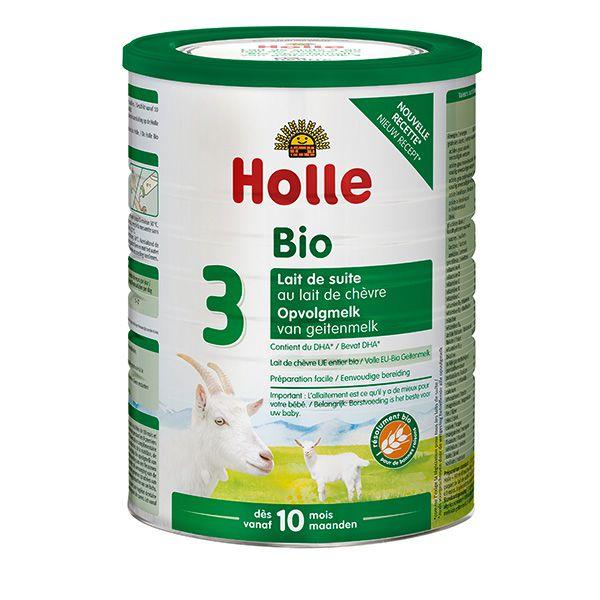 Lait de suite de chèvre 3ème âge dès 10 mois Bio 800g Holle