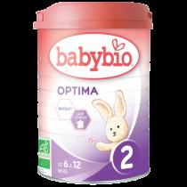 Lait De Suite Optima 2 Bio 6-12 Mois 900G Babybio