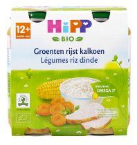 Légumes Riz Dinde 12M Bio 2x250g Hipp