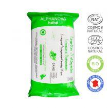 Lingettes 100% Biodégradables sans Parfum Alphanova