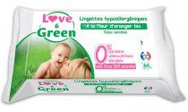 Lingettes à Fleur d\'Oranger 64 pièces Love & Green