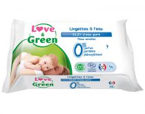 Lingettes à l\'Eau Micellaire 56 pièces Love & Green