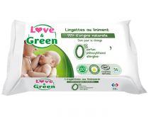 Lingettes Liniment Hypoallergéniques 56 pièces Love & Green