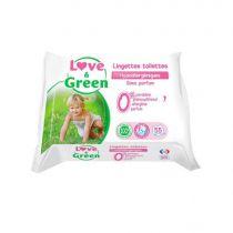 Lingettes Toilettes Propreté Sans Parfum 55 pièces Love & Green