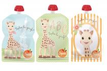 Lot de 3 Gourdes Réutilisables Sophie la Girafe 90ml Squiz