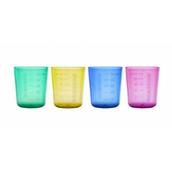Lot de 4 Mini Tasses Multicolores Babycup