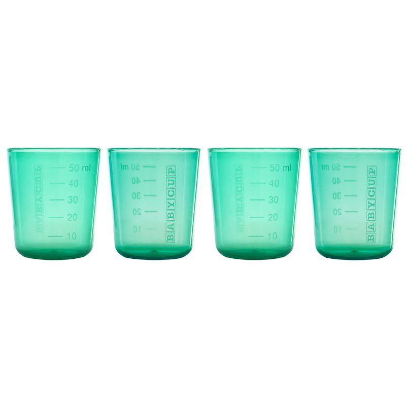 Lot de 4 Mini Tasses Vert Babycup