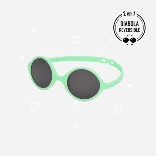 Lunettes de Soleil Diabola 0-1 an Vert d\'eau Ki et La