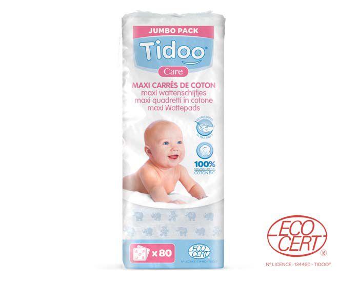 Maxi Carrés Coton Bio 80 pièces Tidoo