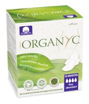 Menstrual Pads Organic Heavy Flow Night Organyc 10 Pieces