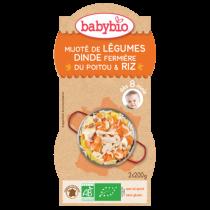 Mijoté de Légumes Dinde Riz 2X200G 8M Babybio
