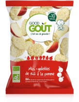 Mini rice cakes apple 40g from 10 months