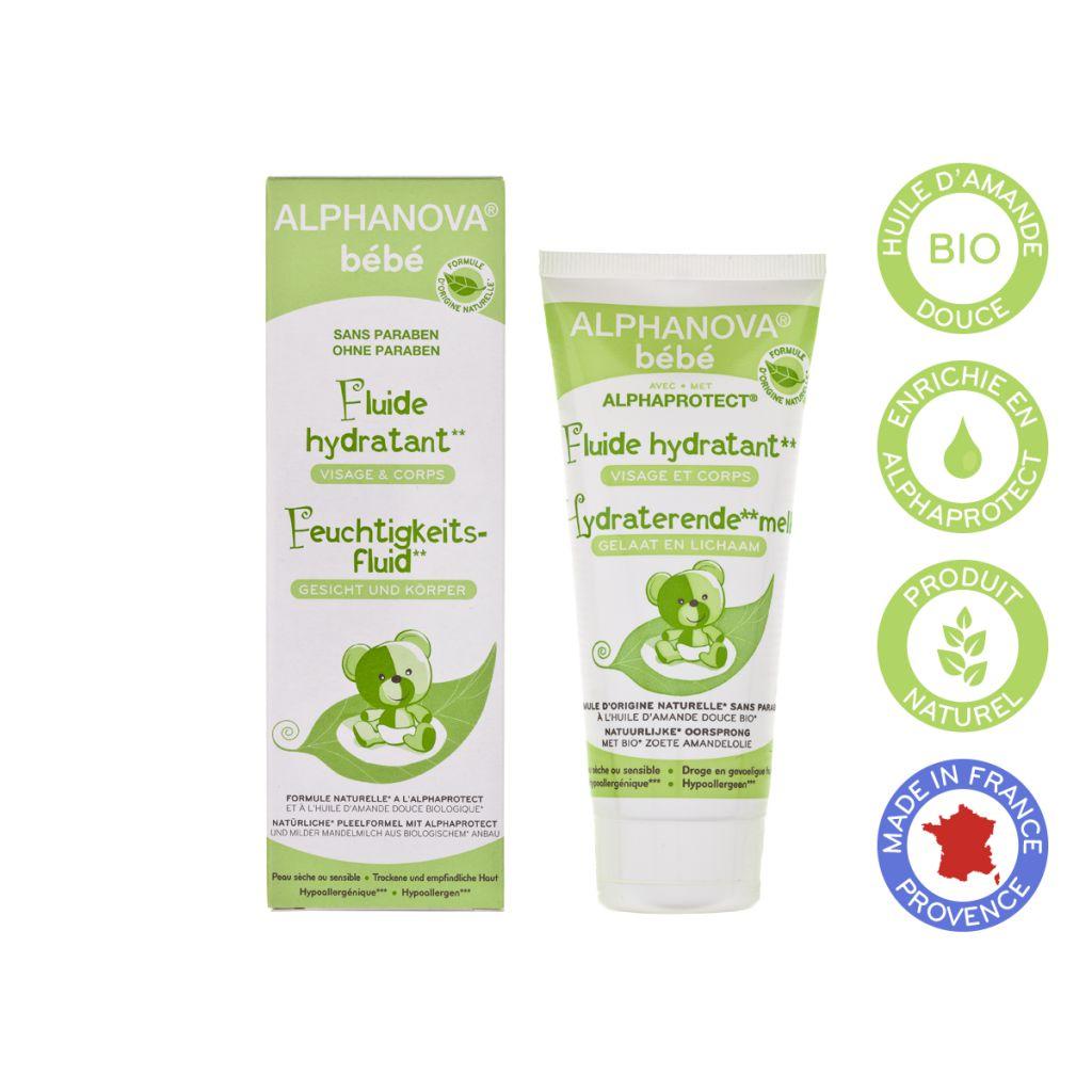 Moisturizing Fluid Face And Body Baby Organic 100Ml Alphanova