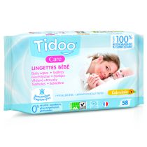 Organic compostable wipes without perfume 58 Tidoo wipes