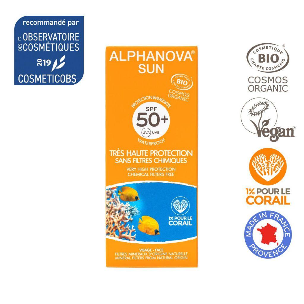 Organic Sun Milk High Protection Spf50 50G Alphanova