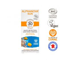 Organic Tinted Light Sun Cream High Protection Spf50 50G Alphanova