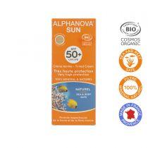 Organic Tinted Sun Cream High Protection Spf50 50G Alphanova