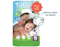 Pack 3X Couches Ecologiques T4+ 48 Pièces Tidoo Nature
