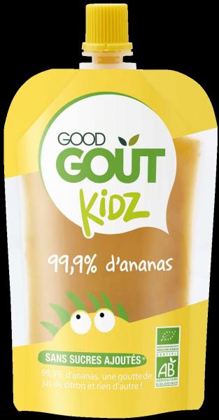 Pack 4 Gourdes Ananas dès 3 ans Good Gout Kidz