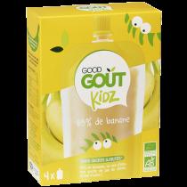 Pack 4 Gourdes Banane dès 3 ans Good Gout Kidz